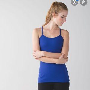 NWOT LULULEMON POWER Y TANK TOP SAPHIRE BLUE